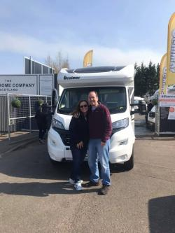 John and Lynn visited on a Saturday afternoon and after having a browse and coming into our showroom they were taken with two of our Motorhomes